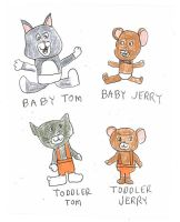 Baby and Toddler Tom and Jerry by dth1971