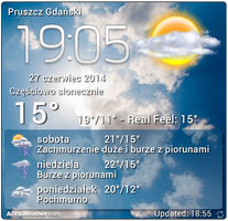 [Android] 4x3 Real Weather Screen With Clock by Slavoo123