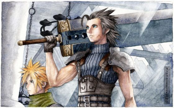 Final Fantasy VII: Cloud and Zack by Kidura