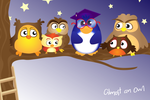 Almost an Owl- Limette-X by childrensillustrator