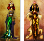 Nephtys and Isis by Emilie-W