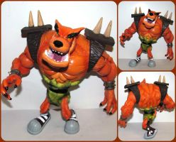 ( Crash Bandicoot ) Loose ReSaurus Tiny Tiger Toy by KrazyKari