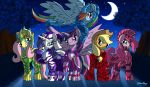 Mane six in Skyrim - Commission by DJMoonRay