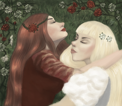 Snow-White and Rose-Red by dumbnargles