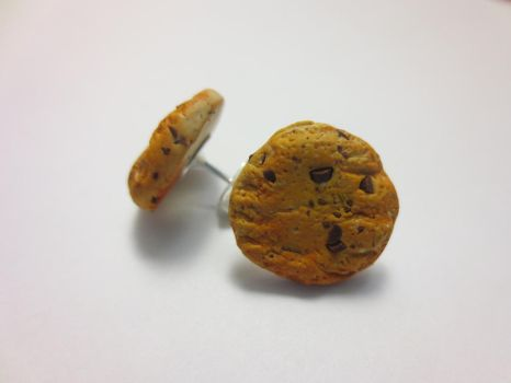 Chocolate Chip Cookie Earrings Polymer Clay Tutori by CandyChick
