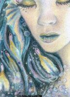 Mermaid  - ACEO by Carol-Moore