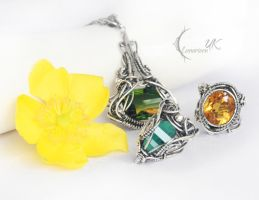 collection of necklaces XIV Lunarieen UK by LUNARIEEN