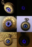 On Dragon's Time - Violet Night Pocket Watch by LadyPirotessa