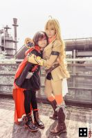 RWBY: Involuntary sisterly motorboating by AngelsArcher