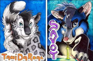 Conbadges Tani Savoy by theOlven