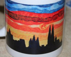cologne dome painting at a cup by ingeline-art