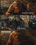 The Hobbit - Thorin vs Goblin King by yourparodies