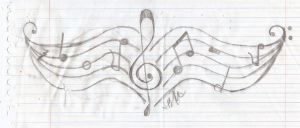 Musical Tramp Stamp Tattoo by Apples4Eden