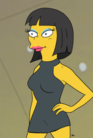 The Simpsons -  Cookie Kwan by theEyZmaster