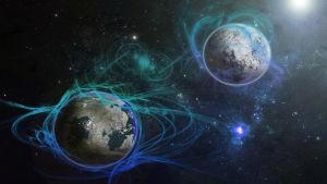 Fictitious Planet Scene by EocDesigns