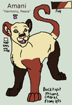 First Lioness OC- Amani Ref Sheet by DoubleTroubleWolves