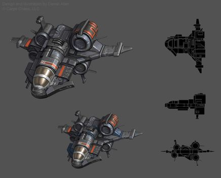 Kaean ship concept by CarpeChaos
