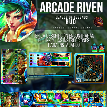 League of Legends HUD - Arcade Riven by AliceeMad
