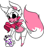 Funtime Foxy with her plushie by TakoMary