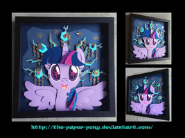 Bronycon 14 Charity Auction Twilight Shadowbox by The-Paper-Pony