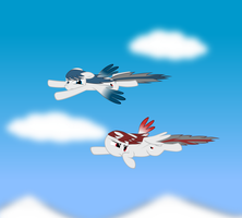 Cipher and Solo Wing Pixy by GeoGhost