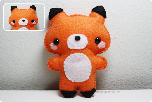 Fox Plushie by KelliBean