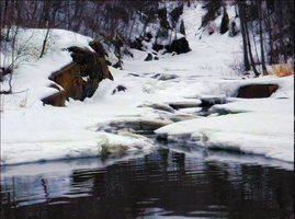 Creek in Winter by DarkSap
