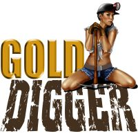 Gold digger Tshirt by ochie4