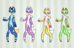 Adoptable Batch ALL OPEN by squidoptablez