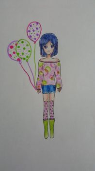 my OC  Aoi balloon challenge by lily1119