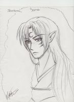 Sesshomaru Sketch by IceMaidenChiyoe