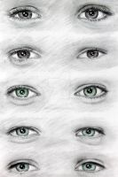 One Direction's Eyes (: by val1drawing