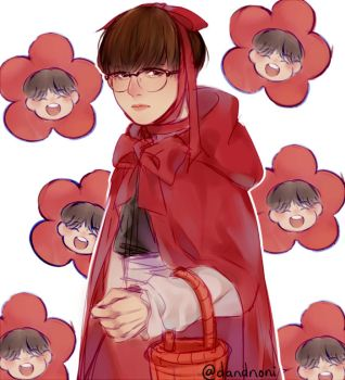 Red Riding Hood Suga with Hoseok flowers by dandnoni