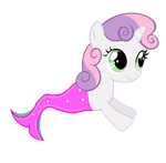 Merpony-Sweetie Belle (Request) by EmoshyVinyl