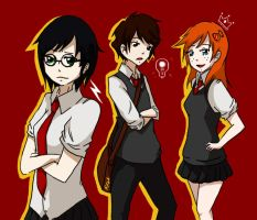 Golden Trio: GENDER BENDER by TheMessangerVIII