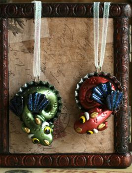 Dragon Ornaments by CatharsisJB