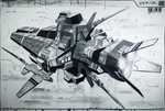 Assault frigate on charcoal by 4-X-S