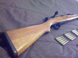 Arisaka Type 99 Short Rifle, Buttstock by GruntJoe