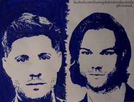 Jensen Ackles and Jared Padalecki by Arspe