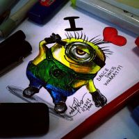 Dancing Minion by TamiTw