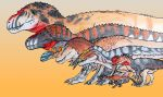 Tyrannosaurs, Tyrannosaurs everywhere! by ZeWqt