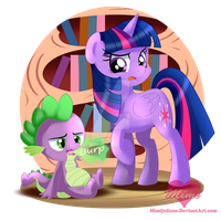 Twilight and Spike by mimijuliane