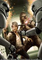 Han Solo and Chewbacca from The Force Awakens by Robert-Shane