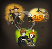 Halloween with the Siblings by Madame-Kikue
