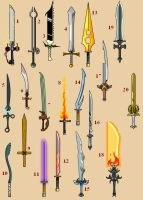 20 Swords of Dragonfable by Idontreallycare12
