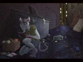 Dark Alley - Commission by SabrinaDeets