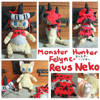 Monster Hunter Felyne plush- Reus Neko by scilk