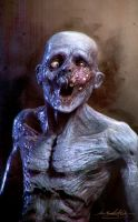 Speedsculpt Zombie with a toothache by MitchGrave