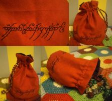 Lord of the Rings Dice Bag by Nyxelian