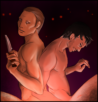 Hannibal - I cover your back in the darkness by FuriarossaAndMimma